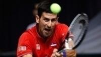Djokovic durante jogo pela Sérvia na Copa Davis