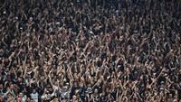 Torcida do Corinthians, em partida na Arena em 2017