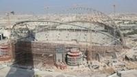 Em novembro de 2016, o Estádio Internacional Khalifa ainda estava apenas no esqueleto