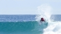 Gabriel Medina em ação em Gold Coast