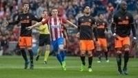 Valencia perdeu por 3 a 0 para o Atlético de Madri no domingo