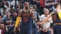 LeBron: uma bola de 3 pontos e um roubo no minuto final