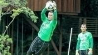 Wilson durante treino do Coritiba