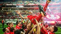 Luisão Comemora Supertaça Portugal Benfica 06/08/2017