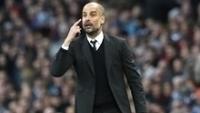 Pep Guardiola, em partida do Manchester City na Premier League