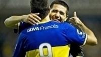 Riquelme Comemora Gol Boca Juniors Godoy Cruz Campeonato Argentino 06/04/2014