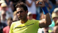 Rafael Nadal comemora a vitória sobre Albert Ramos-Vinolas