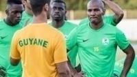 Florent Malouda durante treino da seleção da Guiana Francesa