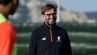 Jurgen Klopp durante treinamento do Liverpool