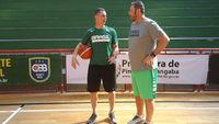 Carlos Lima (à direita) gostou da evolução tática da equipe