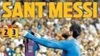 Capa do jornal catalão Sport 'canoniza' Lionel Messi