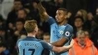 Gabriel Jesus comemora gol na vitória do Manchester City sobre o West Ham