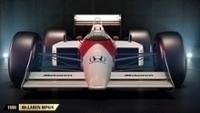 A McLaren MP4/4, da temporada de 1988, guiada por Senna e Prost.