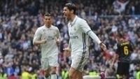 Morata comemora gol que abriu caminho para vitória do Real Madrid sobre o Espanyol