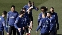 Jogadores do Real Madrid, em treino