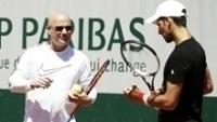 Novak Djokovic Andre Agassi Treino Roland Garros 25/05/2017
