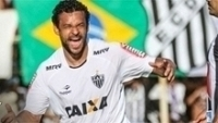Fred comemora gol do Atlético-MG contra o Democrata, no Mineiro