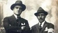 Guilherme Paraense (dir) ao lado de Afrânio Costa; ambos medalhistas no tiro