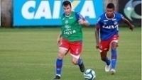Renato Cajá treina no Fazendão do Bahia
