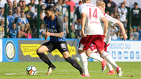 Gabigol deu assistência na derrota da Internazionale em amistoso