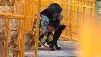 Policial imobiliza torcedor do Peñarol durante conflito antes de clássico