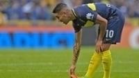 Centurión, emprestado pelo São Paulo, em ação pelo Boca Juniors no Argentino