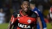 Vinícius Junior celebra gol pelo Flamengo na Copa São Paulo de 2017