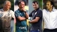 MOSAICO Dorival Júnior, Eduardo Baptista, Fábio Carille e Rogério Ceni