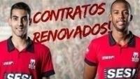 Sesi renovou contratos de Douglas e Aracaju