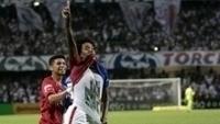 Biteco comemora gol do Paraná contra o Atlético-MG pela Copa do Brasil