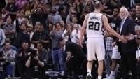 Manu Ginóbili deixa o jogo 4 contra os Warriors ovacionado pela torcida dos Spurs