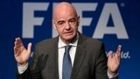 Gianni Infantino durante conferência da Fifa, no último dia 6 de Março.