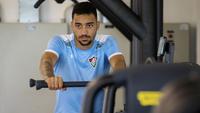 Robinho treinando no CT do Fluminense