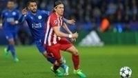 Filipe Luís em ação contra o Leicester pela Champions League