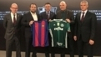 Mauricio Galiotte Alexandre Mattos Palmeiras Barcelona Reuniao 20/01/2017