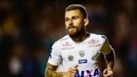 Lucas Lima comemora gol do Santos