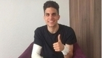 Bartra se diz feliz com recuperação de ferimentos