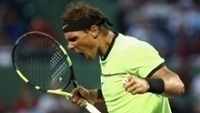 Rafael Nadal comemora vitória sobre Philipp Kohlschreiber no Masters 1000 de Miami