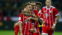Kimmich comemora com seus companheiros após o gol de empate na Supercopa