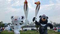 Mascotes dos Jogos Olímpicos de Inverno de 2018 em PyeongChang, na Coreia do Sul