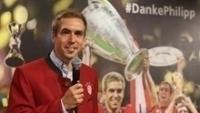 Lahm, durante cerimônia na qual entrou para o Hall da Fama do Bayern