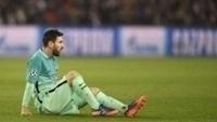 Messi, na partida contra o PSG pela Champions League