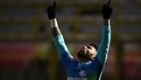 Gabigol comemora seu primeiro gol oficial pela Inter de Milão