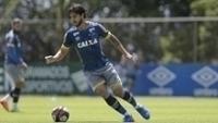 Hudson durante treinamento no Cruzeiro