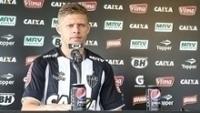 Marlone em coletiva pelo Atlético Mineiro , nesta terça-feira