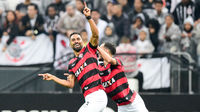 Tréllez comemora gol contra o Corinthians