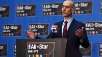Adam Silver, comissário da NBA, fez o anúncio