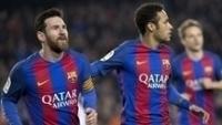 Messi fez os dois gols na vitória do Barcelona