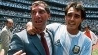 Bilardo comemora o título da Copa do Mundo de 1986