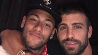 Piqué postou foto com Neymar